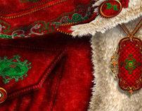 Santa Texture Fabric