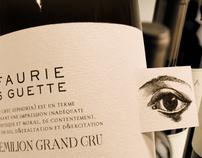 L'EFAURIE - Saint-Emilion Grand cru wine label design