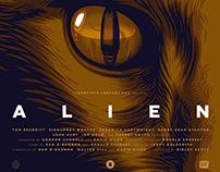 """JONES"" ALIEN 35TH ANNIVERSARY Movie Poster"