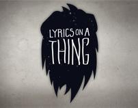 Sony - Lyrics on a Thing