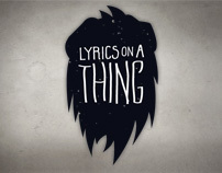 Sony - Lyrics on a Thing: Shirt Designs