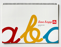 LIVE HAPPilly logo & font
