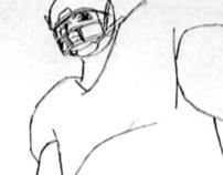 Cartoon Football Tackle