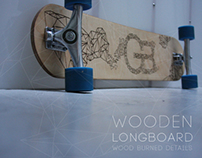 Wood-Burned Longboard.