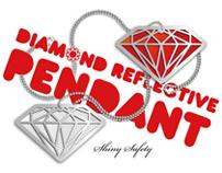 DIAMOND REFLECTIVE PENDANT