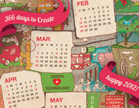 "2012 calendar: ""5 years of Sky Design"""