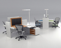 Open space desking solution