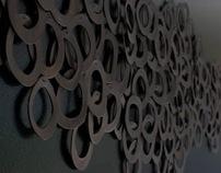 HALO, Eb and Flow.   Ceramic Installation