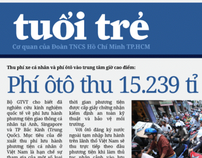 Unsolicited Redesign: Tuoi Tre front page