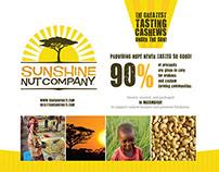 Sunshine Nut Company Sales Sheet