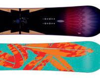 Illustration/Graphic for high end K2 Snowboard graphic