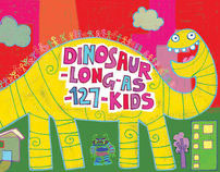 Dinosaur-Long-As-127-Kids: Picture book
