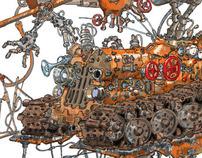 """Unkine"" - science fiction story illustration"