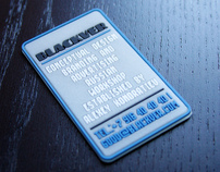 PVC self promo business cards