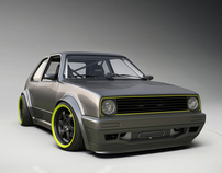 3D - Volkswagen Golf Mk2