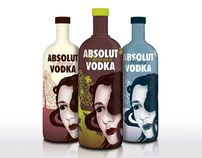 Absolut Vodka Bottle Design - College Project