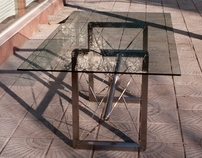 "Tensegrity table ""Rotor"""