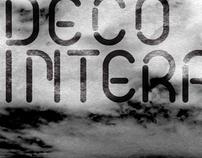 Deco Interrupted Font