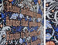 William Morris Chalkboard