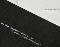 Maqina Business cards