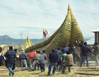 How we moved a 9-ton stone across Lake Titicaca