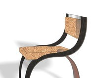 cork and stainless steel chair