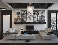 Photographer's residence - Interior design & 3D