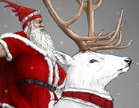 """Santabeg"" - Init's New Year postcard"