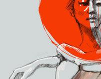 Simeon Farrar illustrations for AmeliasMag