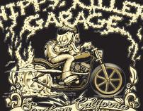 Hippy Killer Garage T-shirt Design