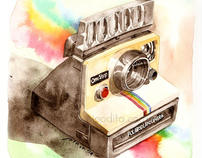 Vintage Gadgets in Watercolor