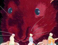 Illustration (the big rat and 3 ladies)