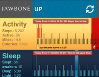 Jawbone UP App Concept