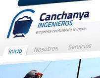 Canchanya Ingenieros Website and Logo
