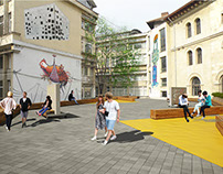 Architecture University Courtyard Design Proposal