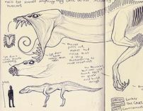 Monster Concept Sketchbook Pages