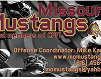 Mustangs Football Business Cards