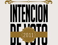 INTENCIÓN DE           VOTO 2011