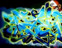 -------GRAFFITI(1986-1987)------DETAIL /hand made/----.