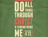 Typography Poster based on Philippians 4:13