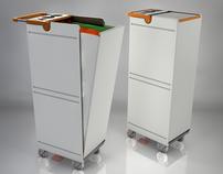 Trolley coletor de lixo para aeronaves