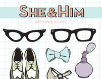 She & Him Poster