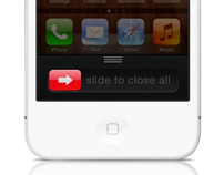 iPhone kill all apps concept.