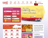 Nano Car Rentals website