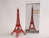 12 inch Laser Cut Paper Eiffel Tower