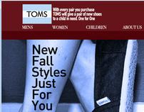 TOMS.com Redesign