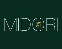 Midori branding and packaging