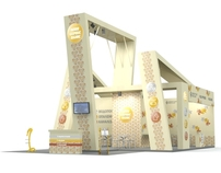 "Booth design for ''Leon-Service plus"". Aqua Therm 2010"