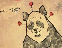 Valentine Panda Greeting Card