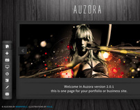 Auzora - Unique One Page Portfolio